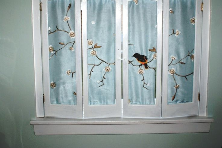 Window shutters - embroidered