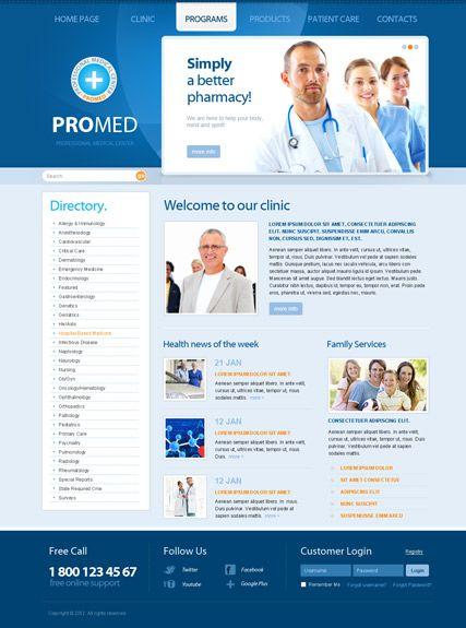 ProMed v2.5 website template