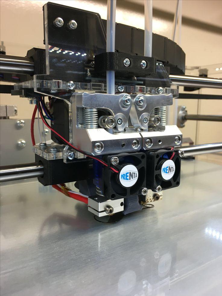 Prenta XL Duo 3D-tulostimeen päivitetty alumiiniosia. #prenta #prenta3d #3dtulostin #3dtulostus #printer #3dprinting