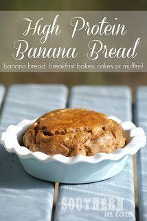 High Protein Banana Bread - Low Fat, Gluten Free, Healthy