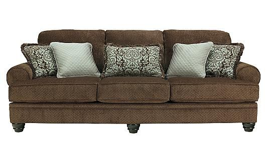 Crawford - Chocolate Sofa ashley furn.... $499 at oak liquidators... 99 in. by 40 in.