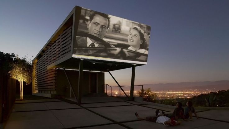 Skyline Residence in the Hollywood Hills features a built-in outdoor theater. Click on the photo to see more images of this beautiful home | Architects: Belzberg Architects - www.belzbergarchi... | via - pinterest.com/...