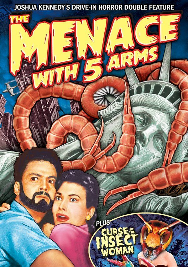 Joshua Kennedy's Drive-In Horror Double Feature: The Menace With 5 Arms / Curse of the Insect Woman DVD-R (2013) Starring Joshua Kennedy; Directed by Joshua Kennedy; Alpha Video $5.95 on OLDIES.com