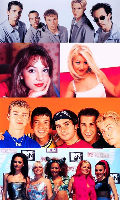90's music - Backstreet Boys, Britney Spears, Christina Aguilera, N'SYNC, and The Spice Girls! <3