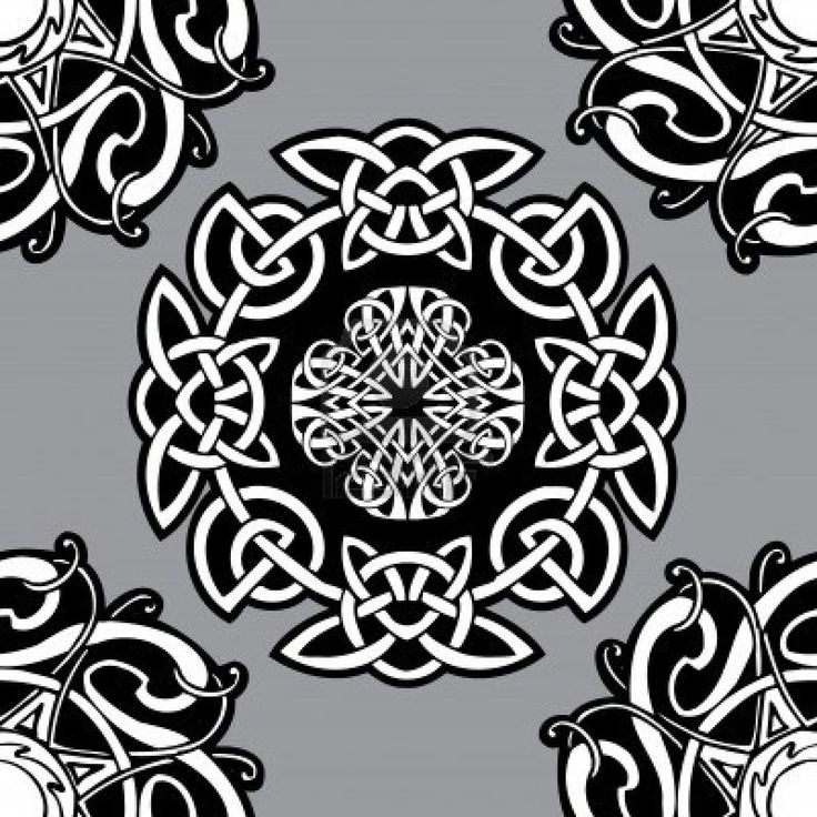 Celtic vector ornamental pattern on a grey background.