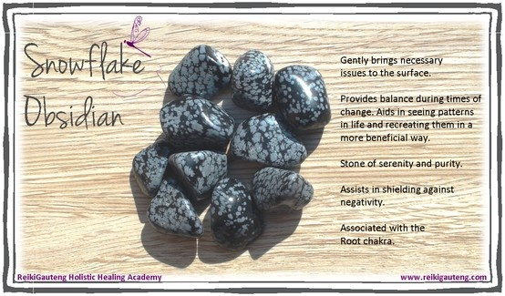 °Snowflake Obsidian ~ Stone of serenity & purity