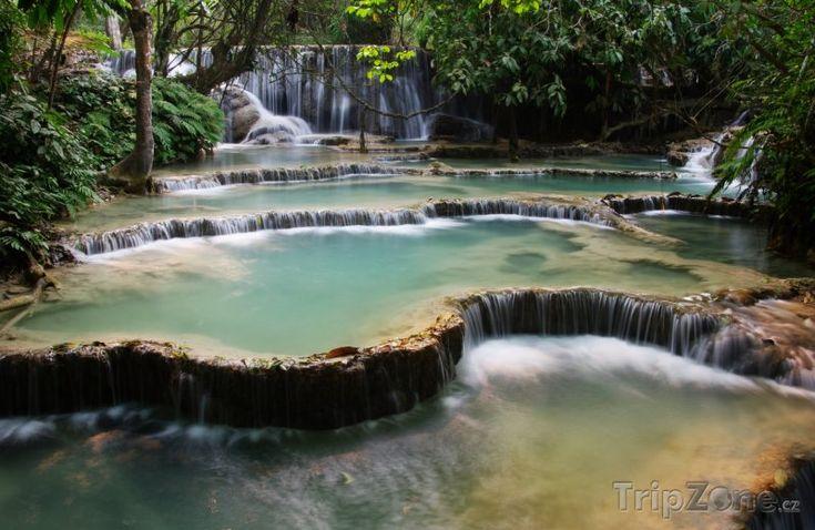 Vodopády Kuang Si (Laos)