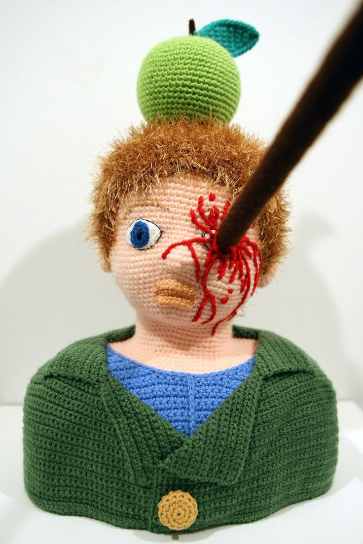 """The knitted sculpture """"William Tell"""" by Patricia Waller.2"""