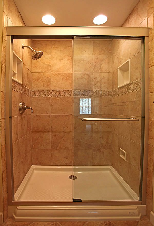ideas for a small tiled shower that has 3ft by 4ft with 7 foot walls
