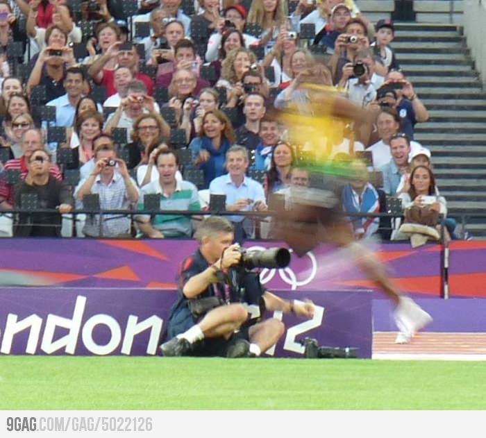 My photo of Bolt...