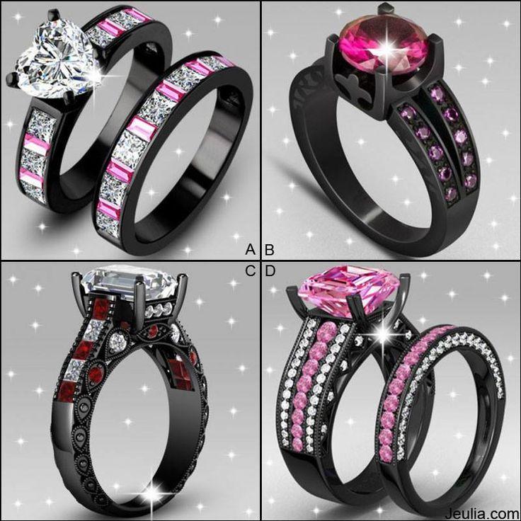 Pretty Cute Bride Ring Sets.#jeulia #rings #weddingsets #fashion.