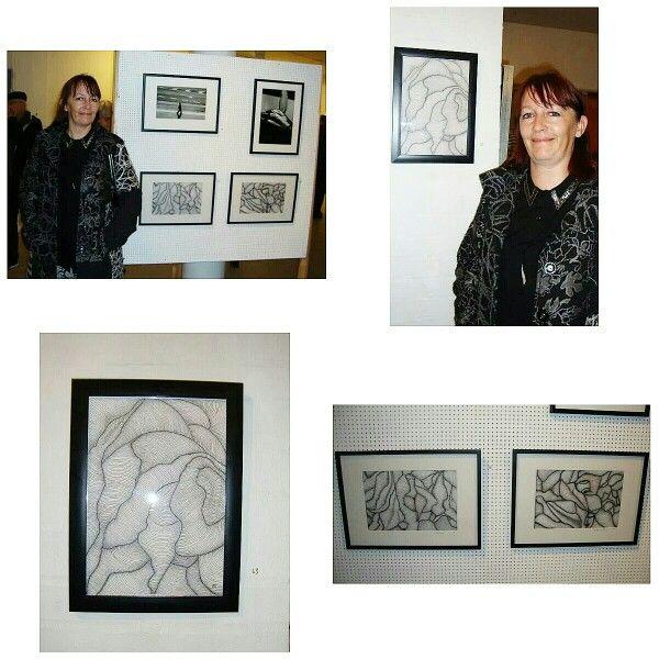 Bjerringbro kunstforening - censureret udstilling 2014 Ikke bare 1 men hele 3 værker fik jeg med på udstillingen