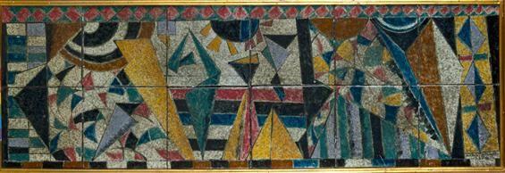 Manuel Cargaleiro | Painel de placas / panel plates | 1954 | Museu Nacional do Azulejo / National Azulejo Museum #Azulejo #ManuelCargaleiro #MNAz