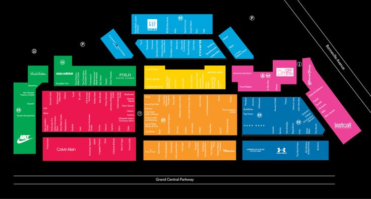 Mall Map For Las Vegas North Premium Outlets® - A Shopping Center In Las Vegas, NV 89106-4541 - A Simon Property