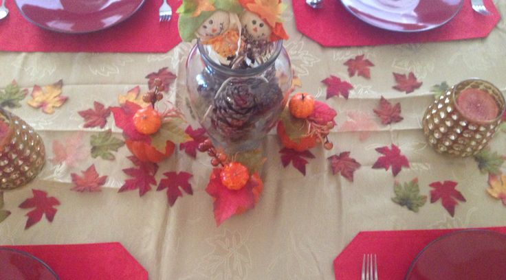 Inexpensive decor/centerpiece for table.