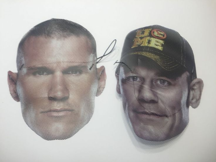 WWE John Cena Randy Orton Face Wrapz Mask Masks Lot of 2 Wrestling #FaceMaskz #johncena #randyorton #wwe