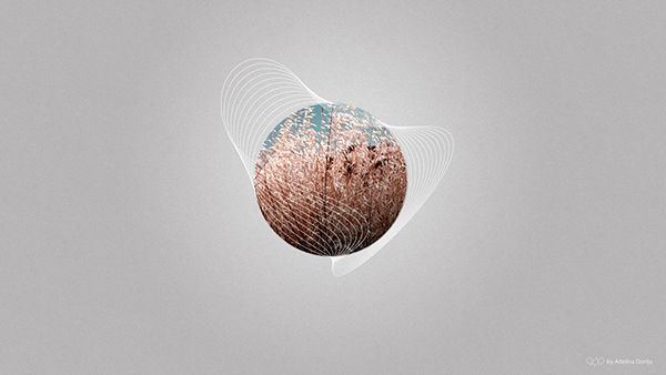 Abstract Wallpaper. Vector, field, grass, circle, opening, waves