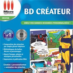 BD Créateur est un logiciel qui permet de créer une bande dessinée en toute simplicité.
