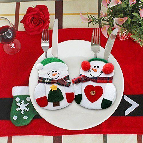 Amazon.com: Silverware Christmas Mitten Holders - 6 pc: Kitchen & Dining