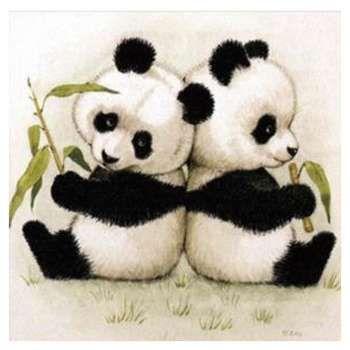 Diy 5d stickerei schöne panda diamant malerei handgemachte kreuzstich handwerk