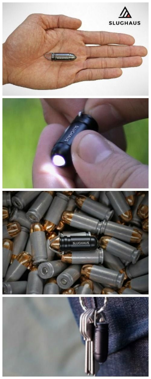 #Slughaus - The world's smallest #LED #flashlight that is shaped like a bullet. #affiliate