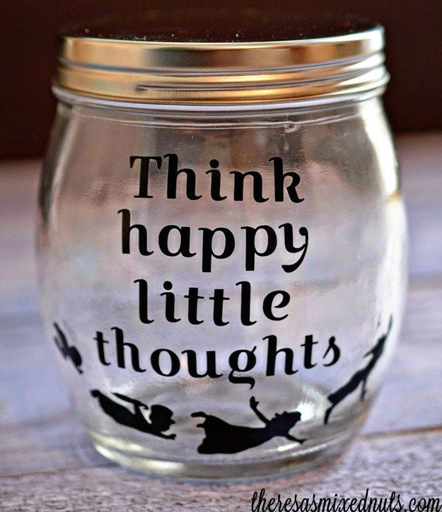 A jar with thoughts to help you fly. | 33 Magical Disney Decorations You Need In Your Life