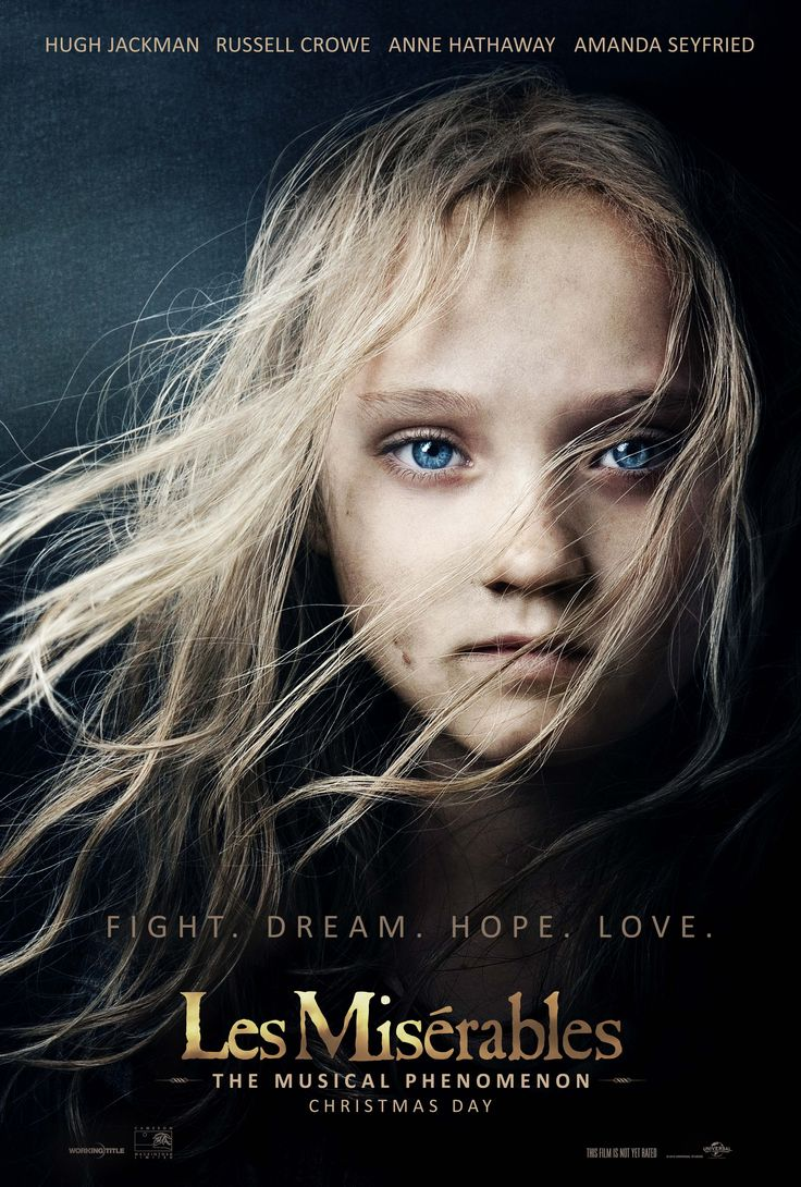 New LES MISERABLES Movie Poster Features Young Cosette This is my favorite  Musical of all time! cant wait for it to come out in a few weeks!