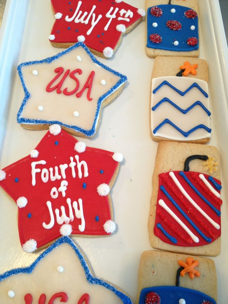 #Firecracker and other #4thofJuly #cookie designs! | Lily's Cookies | www.lilyscookies.com