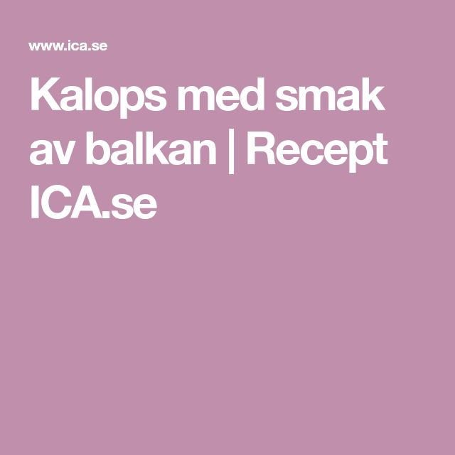 Kalops med smak av balkan | Recept ICA.se