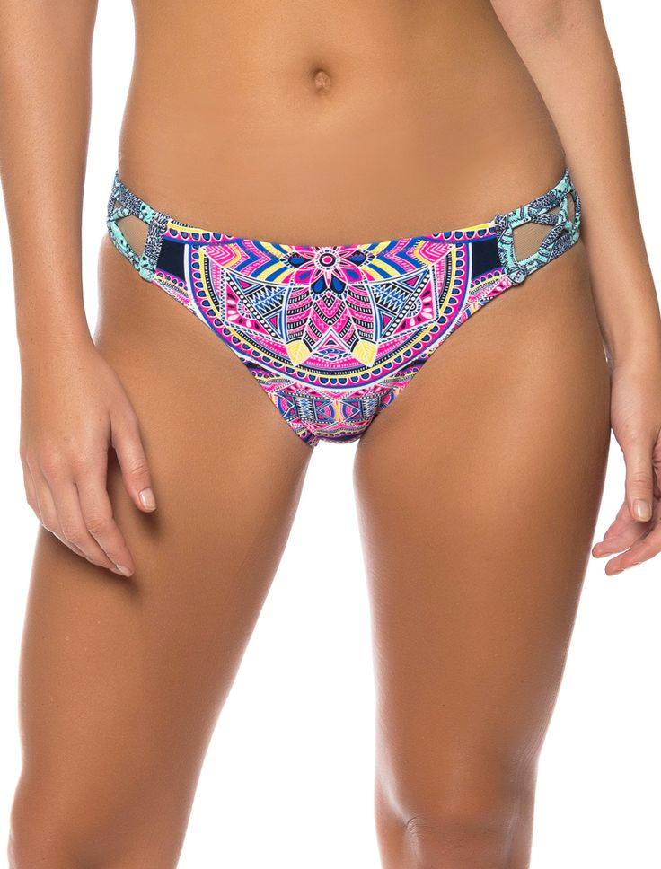 JESSICA SIMPSON SWIMWEAR MOJAVE X-CROSS HIPSTER BOTTOM