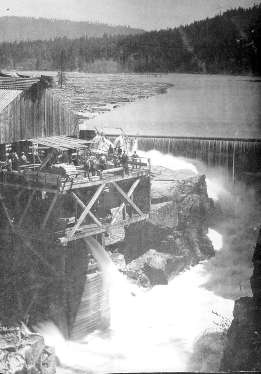 First lumber mill at Post Falls Idaho.  I love these historic photos!!