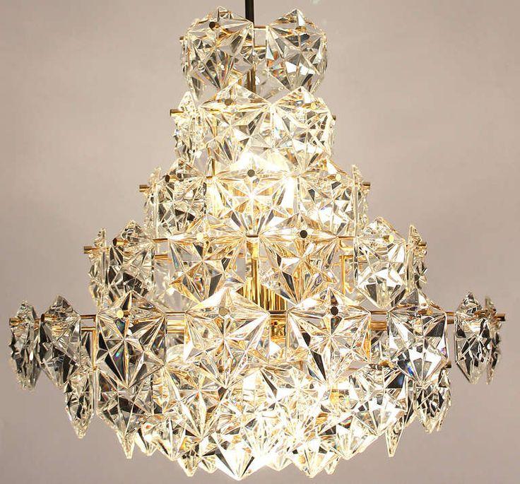 "20"" 8 Tiers Gilded Kinkeldey Chandelier Diamond Crystal Glass |"