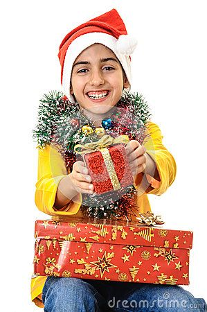 Download Santa Child Enjoying Christmas Presents Royalty Free Stock Image for free or as low as 0.69 lei. New users enjoy 60% OFF. 19,926,500 high-resolution stock photos and vector illustrations. Image: 35360616