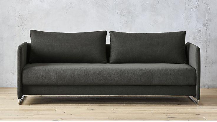 Tandom Dark Grey Sleeper Sofa | CB2