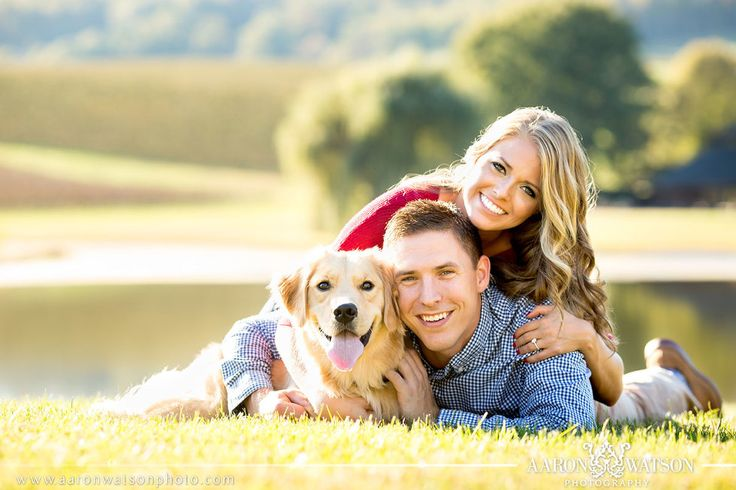 Engagement session with their sweet dog | Virginia Wedding Photographer | Aaron Watson Photography www.aaronwatsonphoto.com