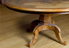 Chateau Parquetry Dining Table also available with plain table tops. Contact us in store http://www.shack.com.au/contact-us