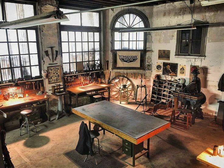 那些优雅的皮具工作室的工作台们