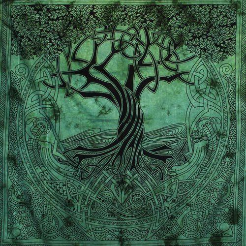 Tenture Arbre de Vie Celte (Vert) GF