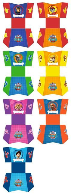 party bag/boxes or for treats on the food table, printables, paw patrol