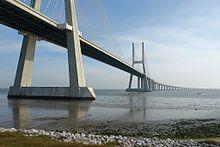Vascó da Gama híd portugáliában Európa egyik leghosszabb hídja