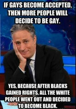 John Stewart on gay rights.