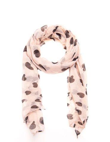 Bershka Croatia - Heart print scarf