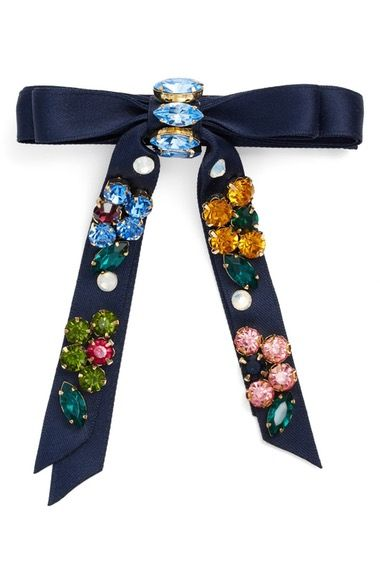 Cara Rhinestone Bow Barrette available at #Nordstrom