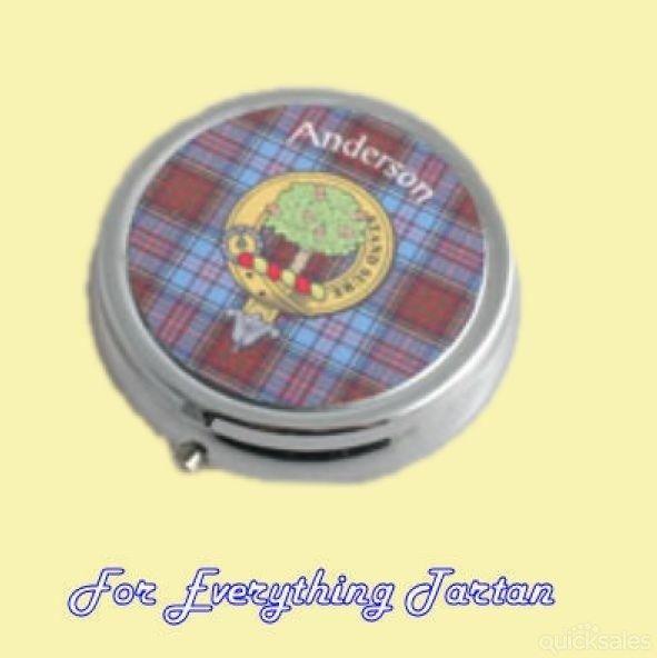 Clan Crest Tartan Badge Polished Metal Trinket Box Pillbox by JMB7339 - $25.00