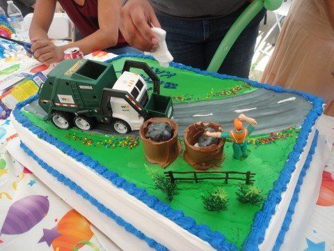 Garbage Truck Cake For My 3 Year Old Son Chocolate 1 2