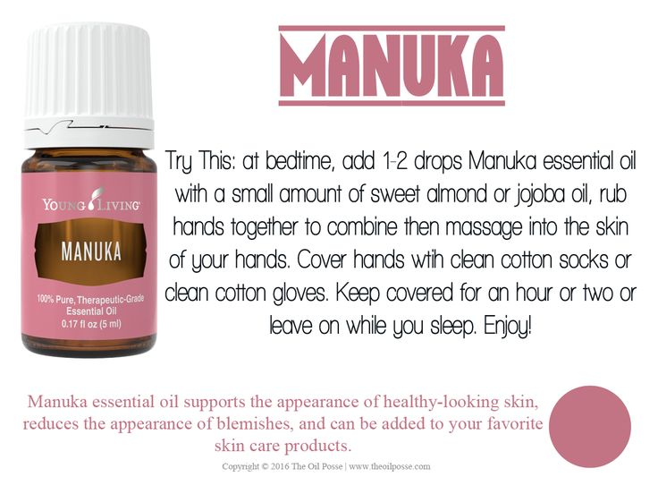 Manuka essential oil supports the appearance of healthy-looking skin, reduces the appearance of blemishes, and can be added to your favorite skin care products.