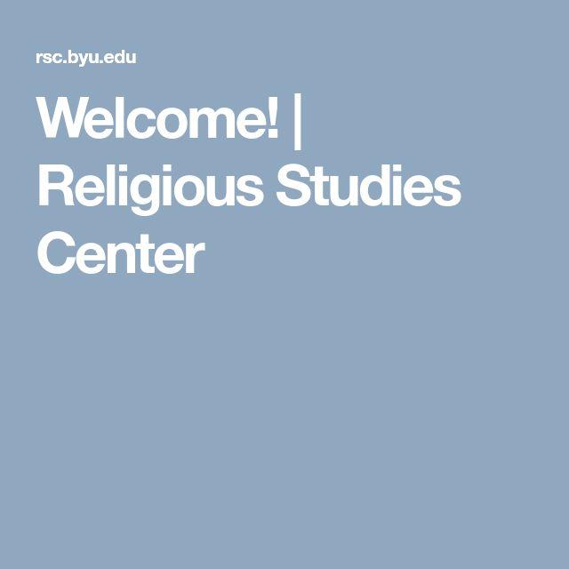 Welcome! | Religious Studies Center
