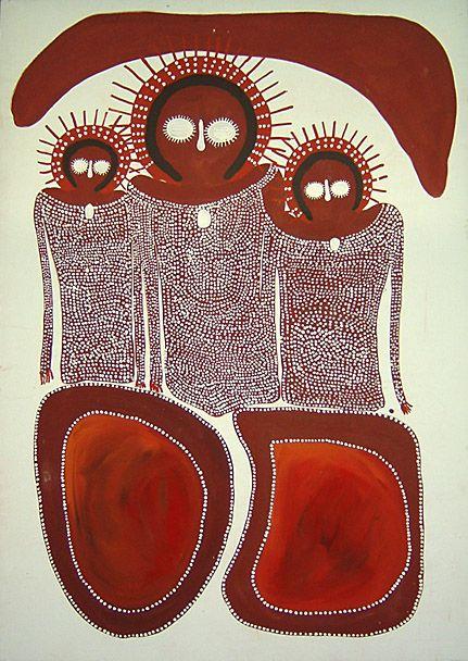 Jack Dale ~ Wandjinas at Iondra, 2004