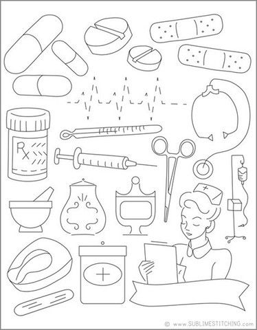 kids coloring pages doctors tools - photo#12