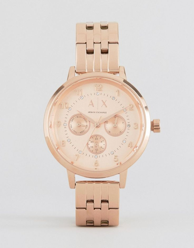 Image 1 ofArmani Exchange Rose Gold Watch AX5374